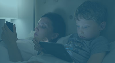Blue-enriched light from TV sets, computer screens and tablets in the evening can phase delay the circadian clock
